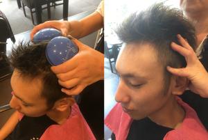 エッセンシャルオイルをたっぷりと使用し、アーユルヴェーダの発想に基づいたヘッドマッサージです。頭皮ケアは勿論、慢性的な凝りや血流の巡りが気になる方にお薦め!シャンプー&ブロー付きです。